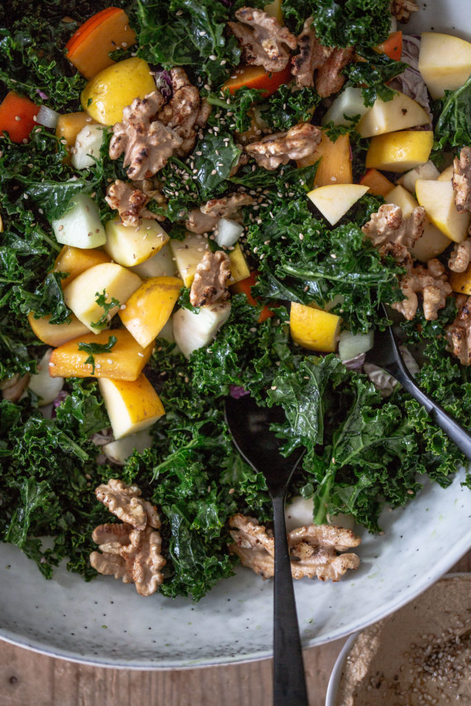 gruenkohl salat vegan mit apfel