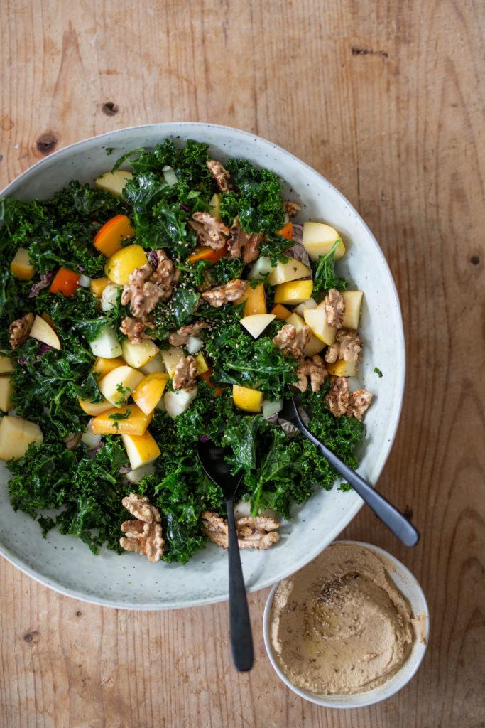 Winterlicher Grünkohl Salat | Gesunde vegane Rezepte, Fermentation, Nachhaltigkeit - Syl Gervais