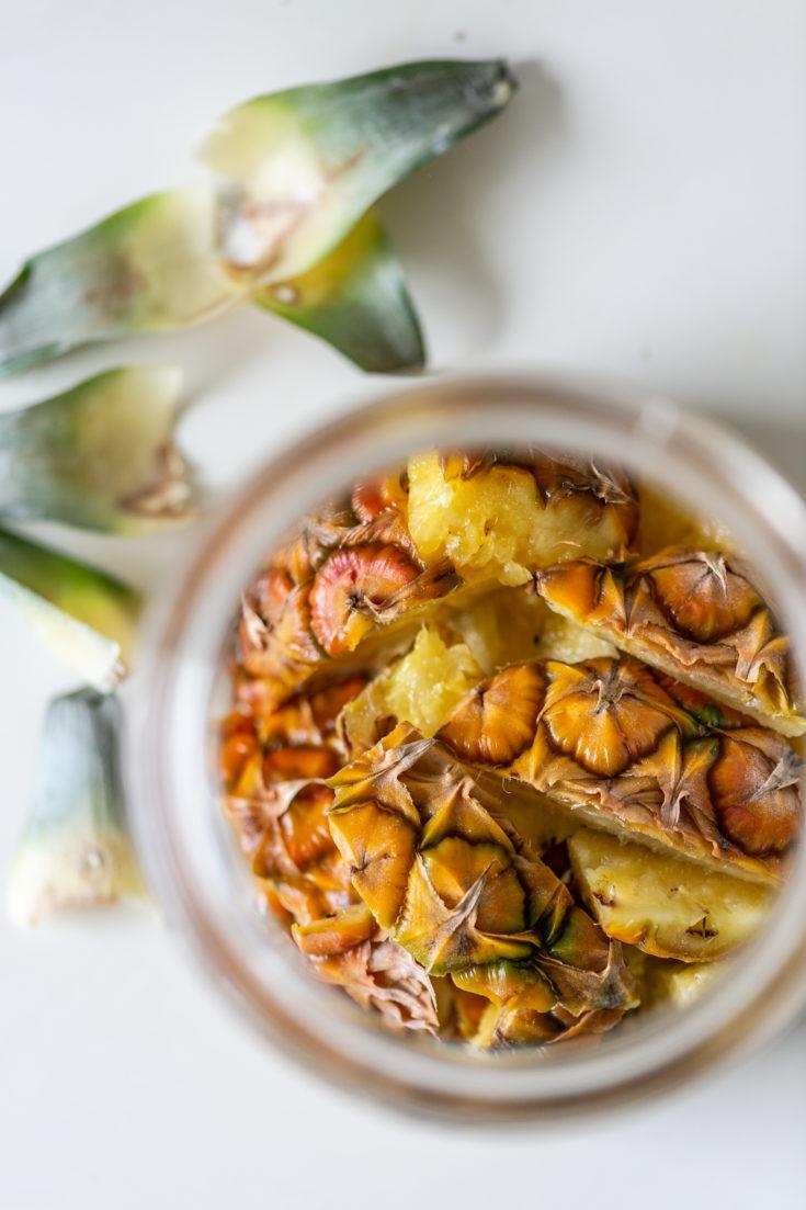 Ananas Essig selber machen - zerowaste Rezept