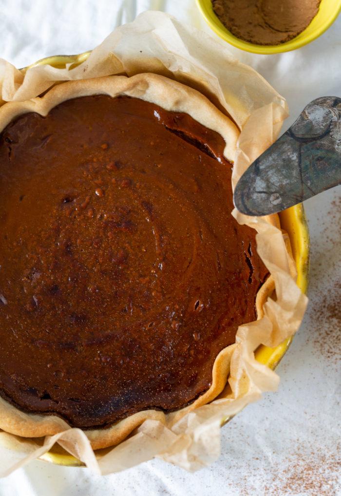 veganes pumpkin pie
