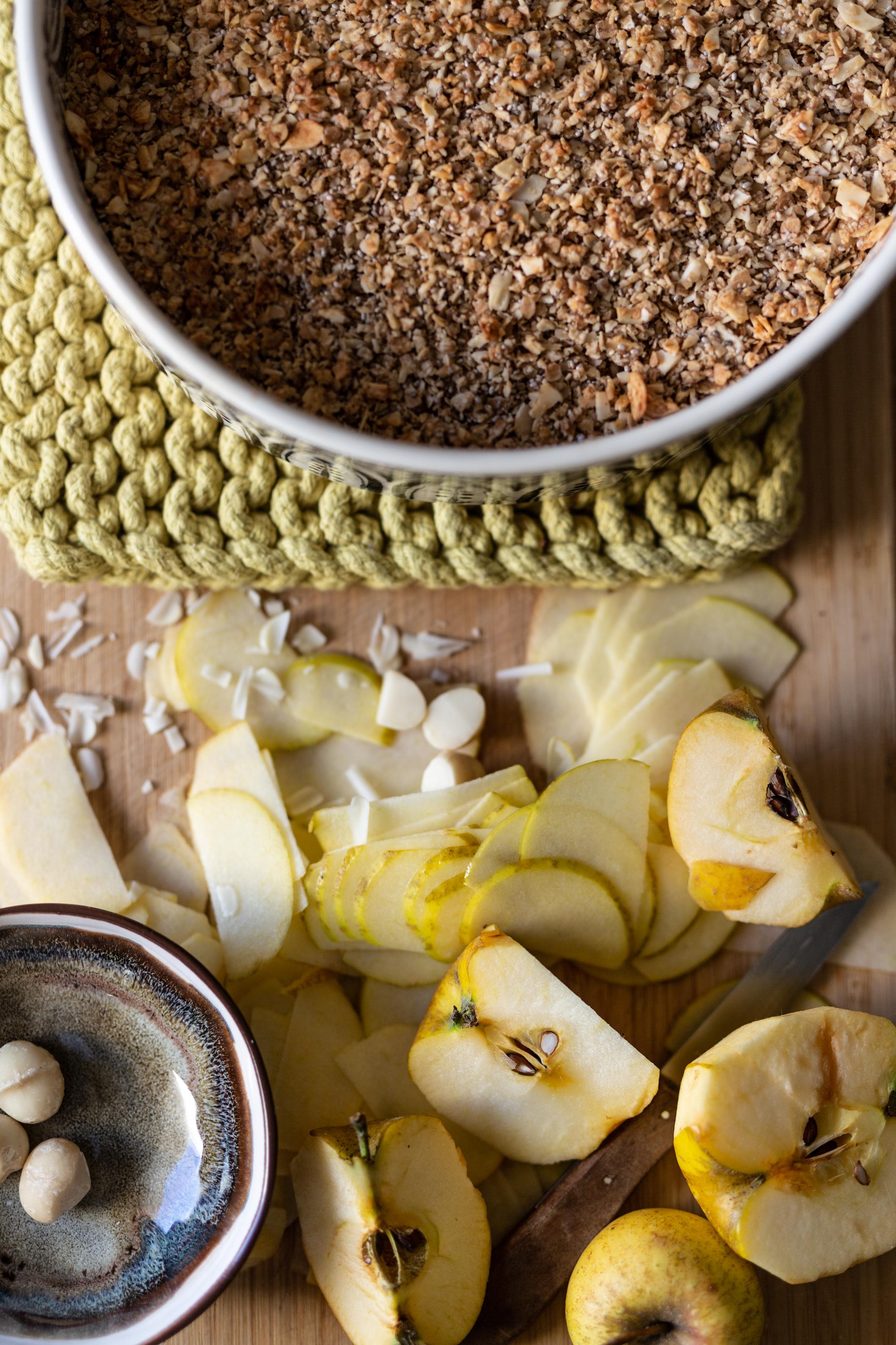 Schnelles Apfelcrumble mit richtig viel Apfel | Gesunde vegane Rezepte, Fermentation, Nachhaltigkeit - Syl Gervais