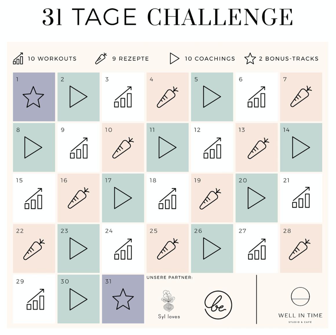 31 Tage Challenge mit Annika, Christine und mir Vol. 2