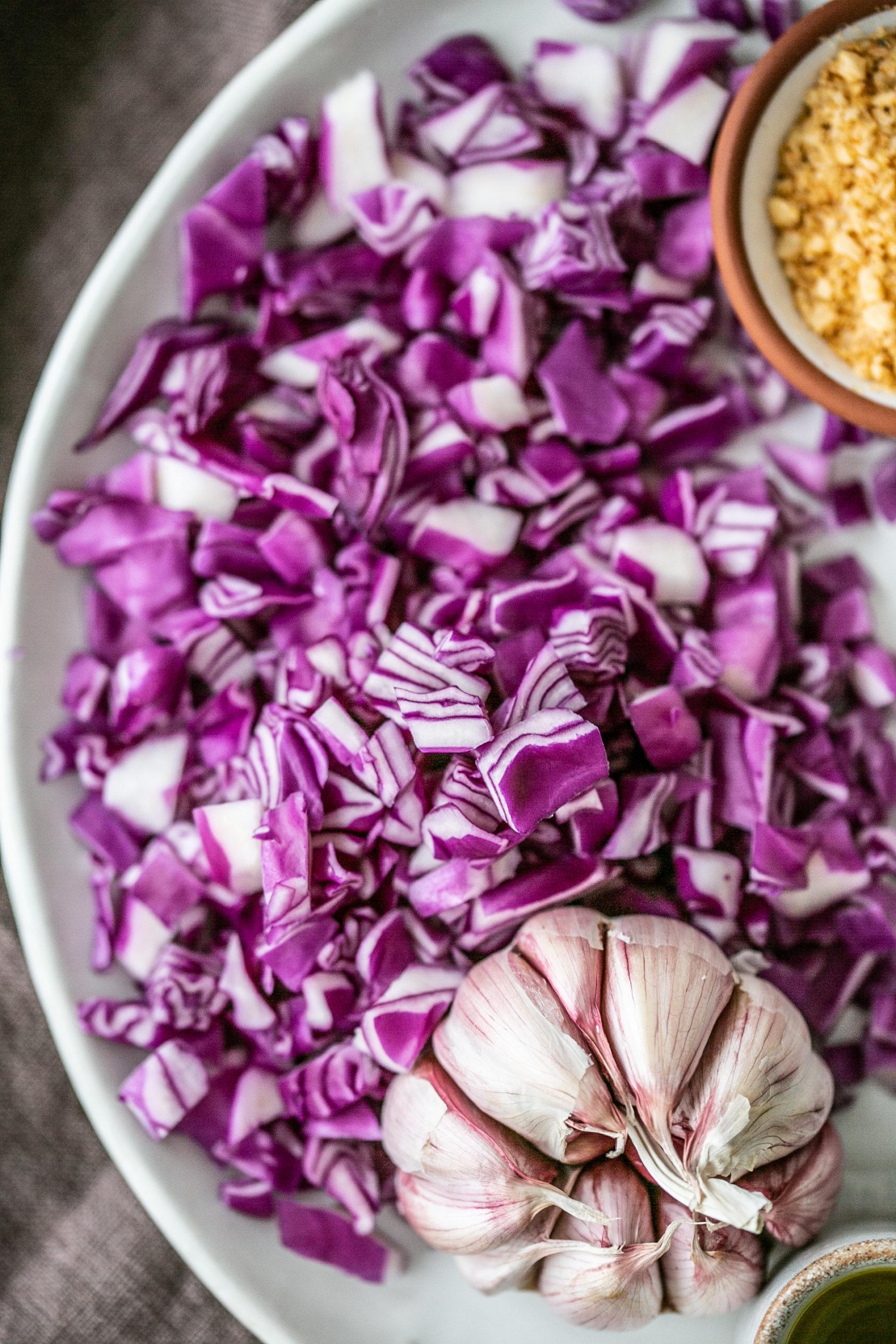 Rotkohl Risotto - schönste, bunte, Winterküche | Gesunde vegane Rezepte, Fermentation, Nachhaltigkeit - Syl Gervais