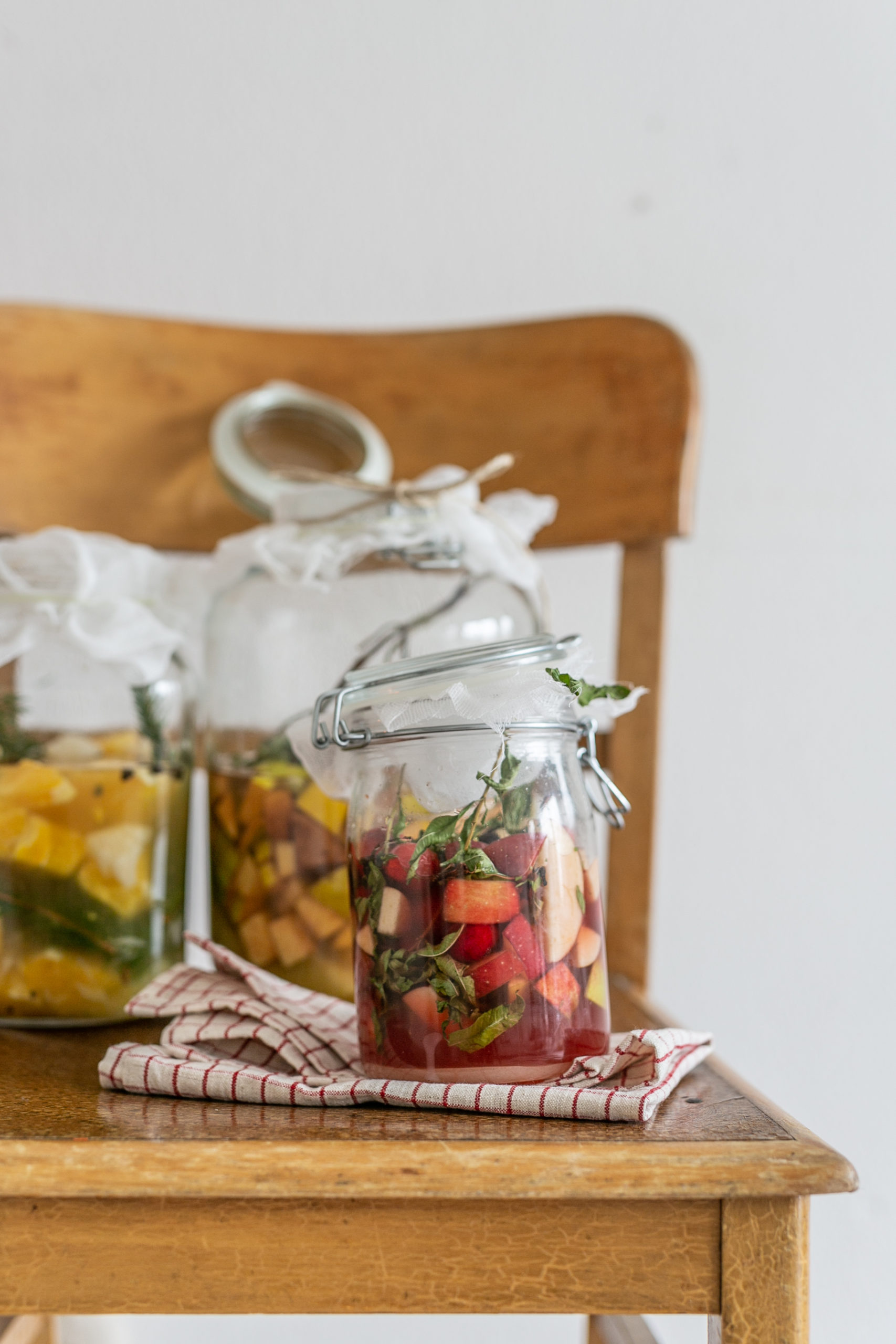 Winter Shrub - Apfel Hagebutte und Zitronenverbene im Glas